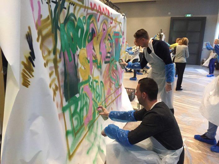 More Balls Than Most Graffiti Workshop teambuilding creatief